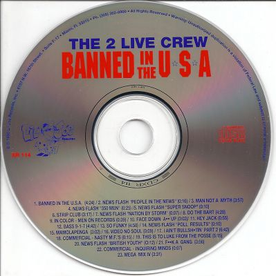 The 2 Live Crew - (Banned In The USA)-cd